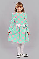 Оригинальное детское платье в крупный горох