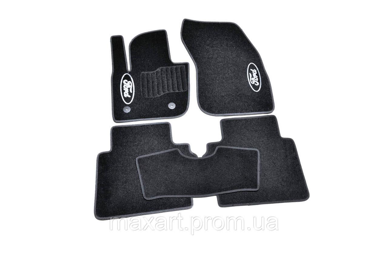Коврики в салон ворсовые AVTM для Ford Mondeo (2014-) /Чёрные, 5шт BLCCR1162