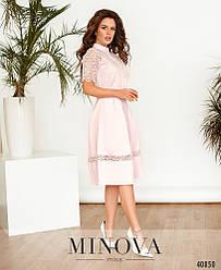 ніжна сукня з ажурним мереживом на подолі размер: 42,44,46,48