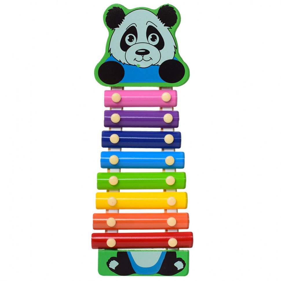 Деревянная игрушка Ксилофон MD0712 (Панда)
