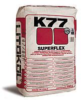 Litokol SUPERFLEX K77 - высокоэластичный цементный клей  серый 25 кг ( K80G0025 )