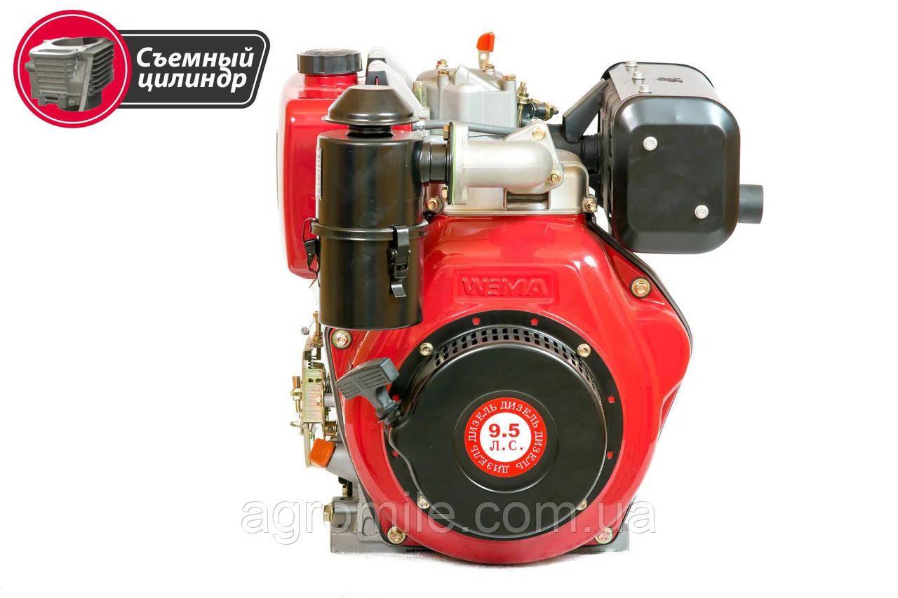 Двигун дизельний Weima WM186FB (вал під шпонку, знімний циліндр, 9,5 л. с.)