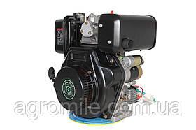 Двигун дизельний GrunWelt GW186FВE (9,5 л. с., шліци)