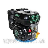 Двигатель бензиновый GrunWelt GW230-T/20 Евро 5 (шлицы, вал 20 мм, 7.5 л.с.), фото 2