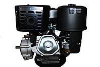 Двигун бензиновий GrunWelt GW460F-S (CL) (відцентрове зчеплення, шпонка, 18 л. с., ручний стартер), фото 5