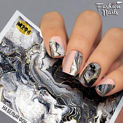 Слайдер-дизайн Абстракція Мармур наклейки на нігті водні наклейки для нігтів Слайдери мармур Fashion Nails