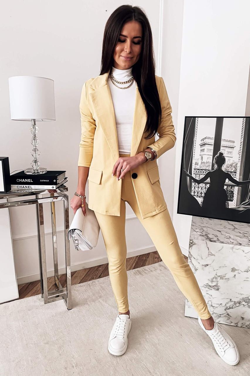 Стильный женский костюм  брючный размеры 42 44 46 Новинка 2021 есть много цветов
