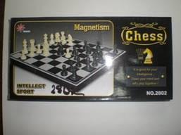 Шахматы магнитные малые, размер 18*18.