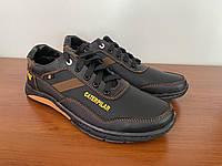 Кросівки чоловічі чорні прошиті (код 5012)