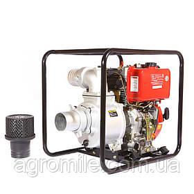 Мотопомпа дизельная WEIMA WMCGZ100-30 E (9,5 л.с.,120 м3/ч, электростартер, 100 мм)