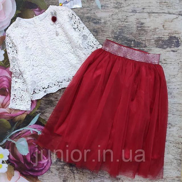 Костюм для девочки (блуза и юбка)