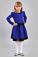 Нарядное детское платье из плотной теплой ткани