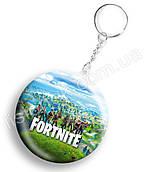 Брелок Фортнайт, яскравий та стильний, з героями улюбленої гри Fortnite, діаметр 44мм