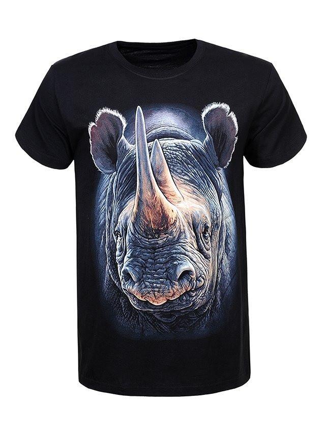 Мужская футболка с носорогом в большом размере