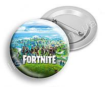 Значок Фортнайт, яскравий та стильний, з героями улюбленої гри Fortnite, діаметр 44мм