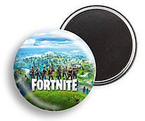 Магніт Фортнайт, для фанатів гри Fortnite, діаметр 44мм