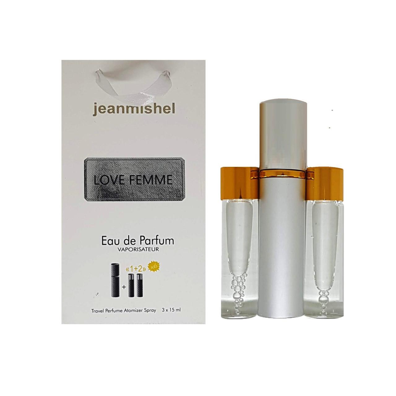 Парфюм-спрей Jeanmishel Love Femme (104) 3 x 15 мл