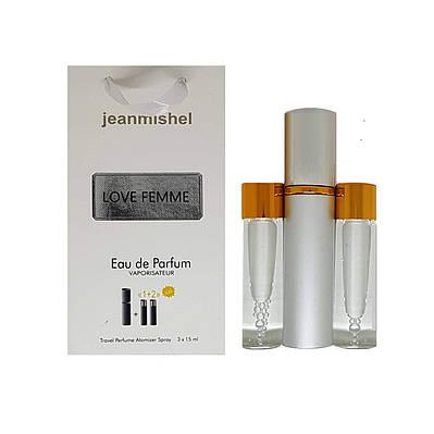 Парфум-спрей Jeanmishel Love Femme (104) 3 x 15 мл