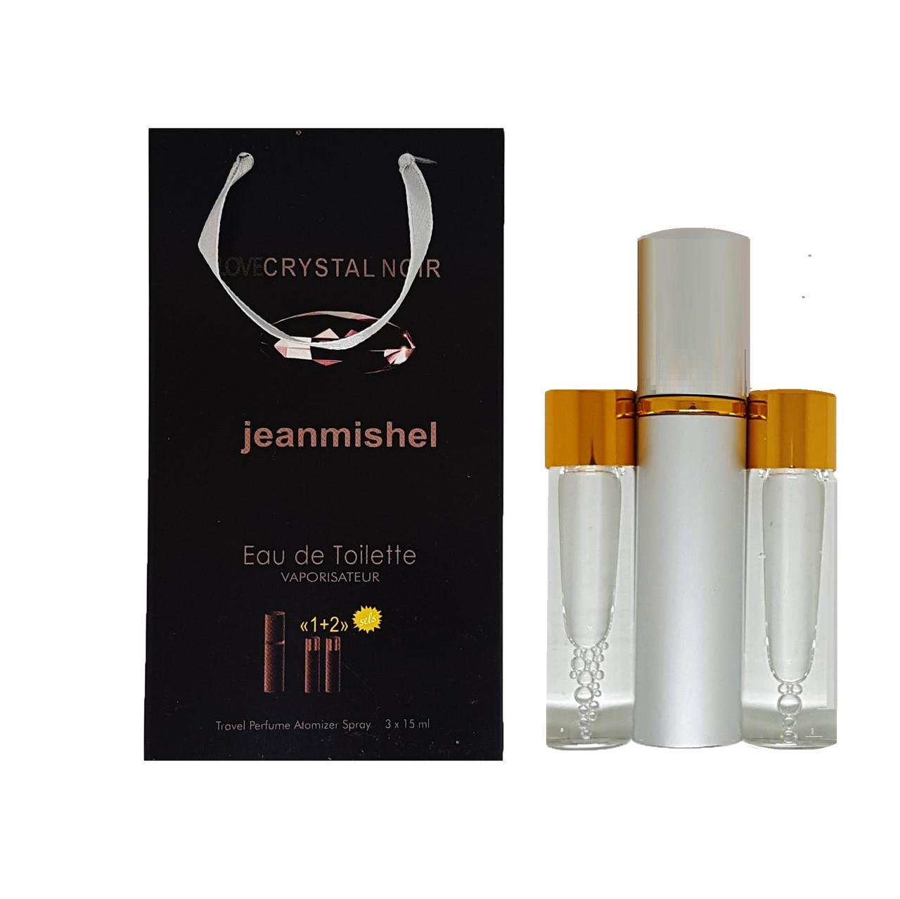 Парфюм-спрей Jeanmishel Love Crystal Noir (72) 3 x 15 мл