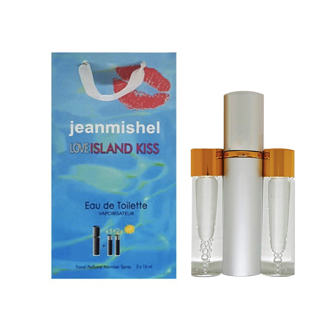 Парфюм-спрей Jeanmishel Love Island Kiss (33) 3 x 15 мл