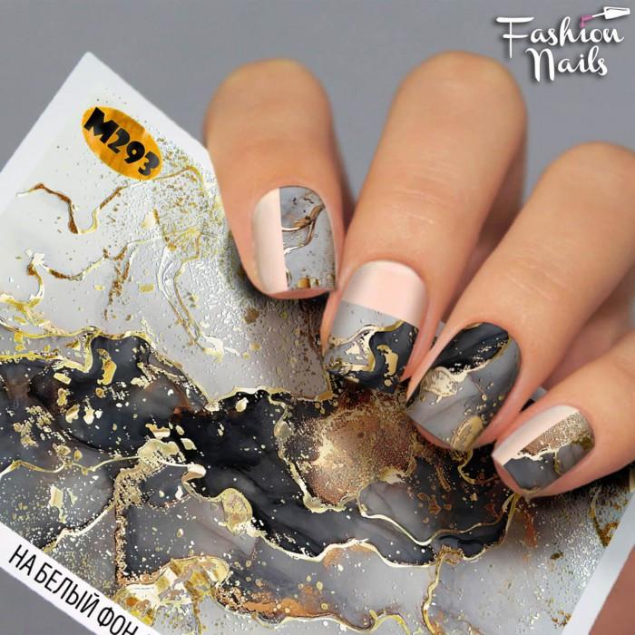 Слайдер-дизайн Мрамор наклейки на ногти для маникюра водные наклейки для ногтей Слайдеры мрамор Fashion Nails