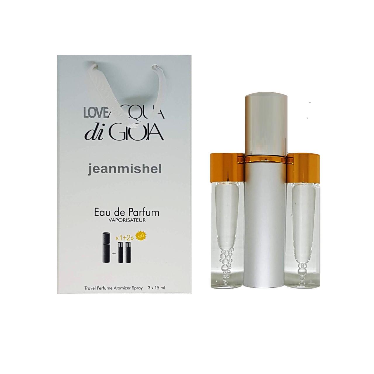 Парфюм-спрей Jeanmishel Love Acqua di Gioia (81) 3 x 15 мл