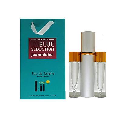 Парфюм-спрей JeanmishelLoveBlueSeductionforwomen(98)3x15мл