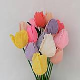 Мыло тюльпаны роза (поштучно)  букет из мыльных цветов  мыльная цветочная композиция из мыла ручной работы, фото 7