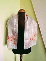 """Нежный   шелковый шарф  с купонным рисунком """"бабочки""""  Kapriz"""