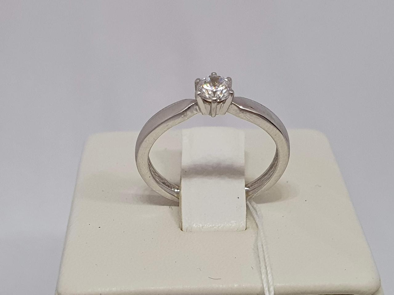 Золотое кольцо с фианитом. Артикул 3522122Б 16