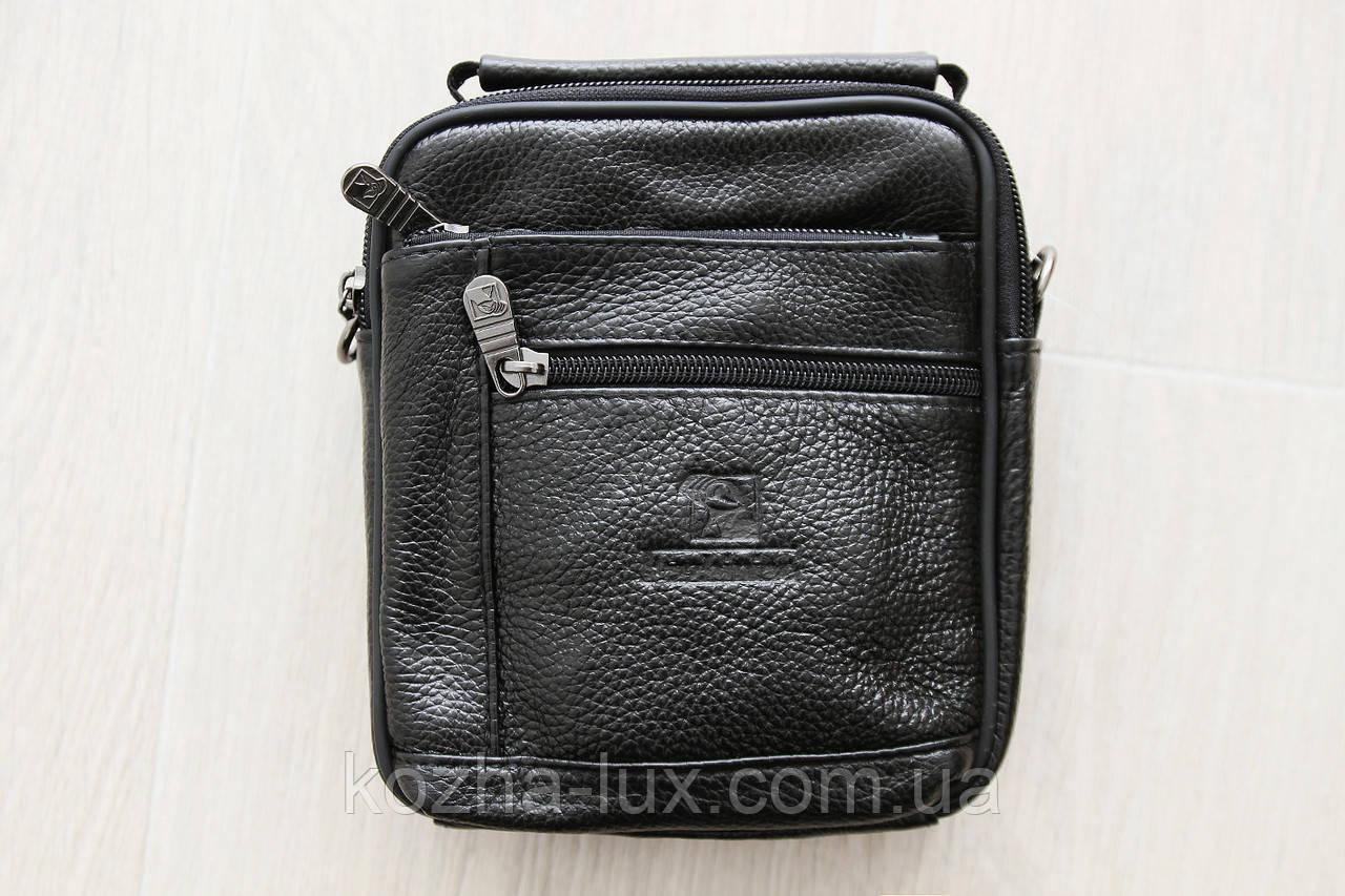 Чоловіча маленька шкіряна сумка