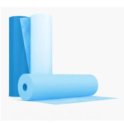 Простынь одноразовая из спанбонда рулон 80 см х 500 м плотность 20 г/м² Синий (MAS40204)