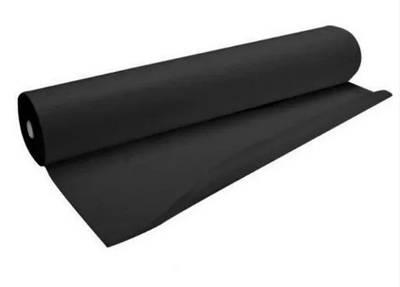 Простынь одноразовая из спанбонда рулон 80 см х 100 м плотность 30 г/м² Черный (MAS40217)