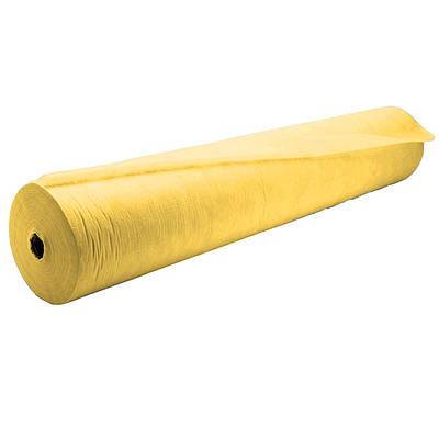 Простынь одноразовая из спанбонда рулон 80 см х 100 м плотность 20 г/м²  Желтый (MAS40220)