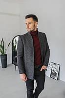 Мужское пальто Люксембург темно-серого цвета