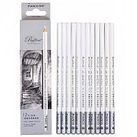 Пастельные карандаши, 12 штук, белые, мягкие, Raffine Marco 7012-12CB (7012-12CB x 227778)