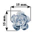 Набор Пайетки Розы Объемные Серебристые 20 штук Диаметр 15 мм для Рукоделие, фото 2