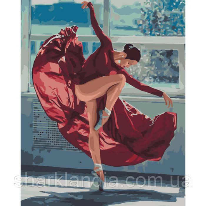 Картина по номерам Танец огня 40*50см KHO4512 Танцовщица Балерина
