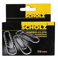 Набор скрепок Scholz закругленные рельефные прямые с волной 78 мм 10х50 шт 4704 (4704 x 227210)