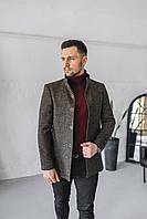 Мужское пальто Люксембург коричневого цвета