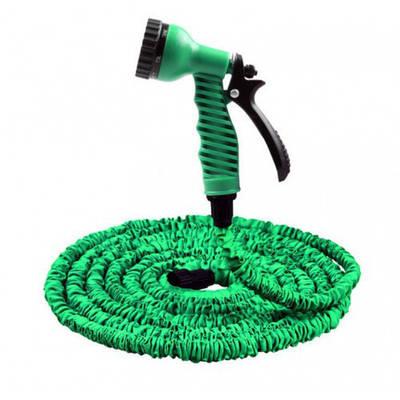 Усиленный садовый шланг для полива Xhose 45 м. с распылителем  Зеленый (258493)