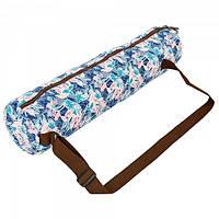 Сумка для йога коврика Yoga bag KINDFOLK FI-8365-2 Blue (US00438)