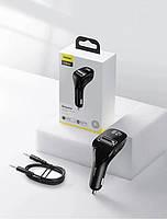 Автомобильное зарядное устройство FM модулятор трансмиттер Baseus Streamer F40 AUX Wireless MP3 Bluetooth, фото 6