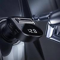 Автомобильное зарядное устройство FM модулятор трансмиттер Baseus Streamer F40 AUX Wireless MP3 Bluetooth, фото 7