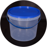 Ведро пластик 3л +крышка синяя, с ручкой прозрачное 0175120 (0175120 x 137396)