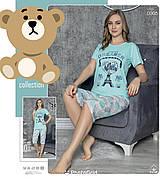 Пижама женская футболка и капри тоненький хлопок Турция № 0005 разные цвета