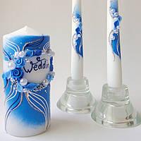 Свадебные свечи Семейный очаг Синие