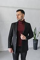 Мужское пальто Кашмир черного цвета