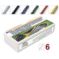 Пружина для переплета Пластиковые пружины Ф6, в упаковке 100 штук, D&A 1220201060406 (1220201060406(красный) x, фото 1
