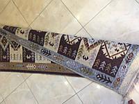 Доріжка килим котон бурдово-коричневих тонах200*76см